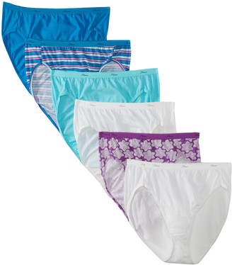 Hanes Women's Core Cotton High-Cut Panty- Assorted (Pack of 6)