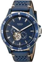 Fossil Men's ME3149 Crewmaster Sport Automatic Leather Watch