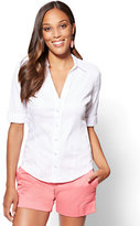 New York & Co. 7th Avenue - Madison Stretch Shirt - Pink Stripe