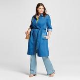 Who What Wear Women's Plus Size Denim Overcoat