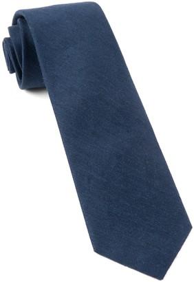 Tie Bar Linen Row Navy Tie