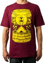 Upper Playground Bumble Beer T-Shirt in Burgundy by Jeremy Fish