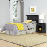 Home Styles Bedford 2-Piece Twin Headboard and Nightstand Set in Black