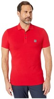 HUGO BOSS Short Sleeve Polo with Logo Patch (Cherry Red) Men's Short Sleeve Pullover