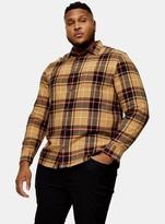 TopmanTopman BIG & TALL Stone Tartan Check Shirt*