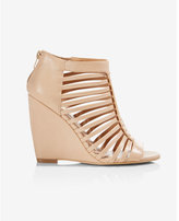 Express strappy cage wedge sandal