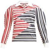 Symonds Pearmain - Zigzag-panelled Striped Cotton Shirt - White Multi