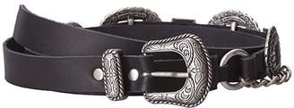 Leather Rock Wynn Belt (Black) Women's Belts