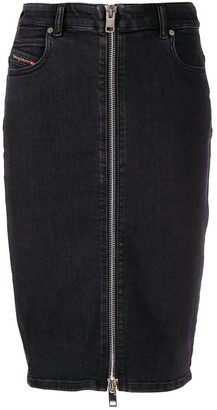 Diesel Front Zip Pencil Skirt