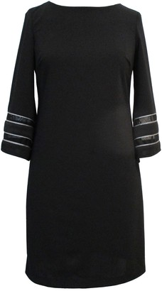 Sandra Darren Angel 3/4 Sleeve Scuba Dress