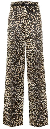Tom Ford Leopard-print cotton and silk pants