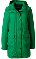 Lands' End Women's Plus Size Petite Insulated Casual Parka-Meadowland Green