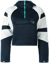 adidas contrast hoodie - women - Cotton/Polyurethane/Polyester/Nylon - 42