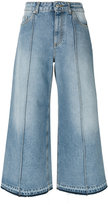 Alexander McQueen cropped wide-leg jeans - women - Cotton - 38