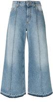 Alexander McQueen cropped wide-leg jeans