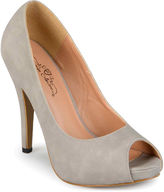Journee Collection Lois Peep-Toe Pumps in Wide Width