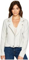 Blank NYC Light Grey Jersey Moto Jacket in Jaw Breaker Women's Coat