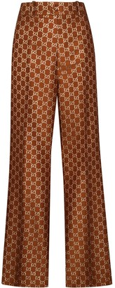 Gucci GG jacquard flared trousers