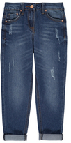 George Straight Leg Distressed Detail Jeans
