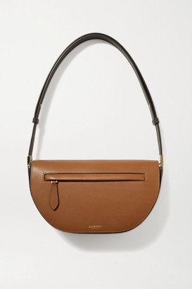 Burberry Olympia Small Two-tone Leather Shoulder Bag - Tan