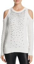 MICHAEL Michael Kors Cold Shoulder Embellished Sweater - 100% Bloomingdale's Exclusive