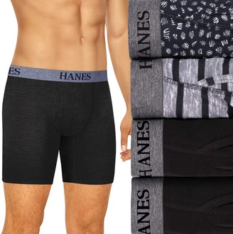 Hanes Men's Ultimate 4-pack Tagless Stretch Boxer Briefs
