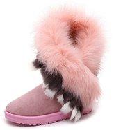Lighttech Light-Tech Women's Winter Faux Fur Snow Boots Knit Boots
