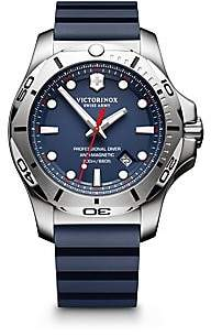 Victorinox Men's Inox Stainless Steel Professional Rubber Strap Watch