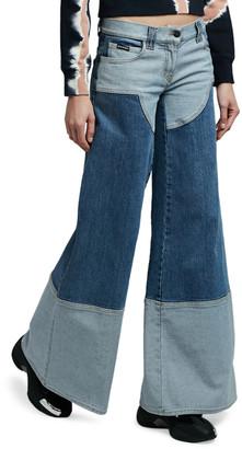 Palm Angels Wide-Leg Five-Pocket Jeans