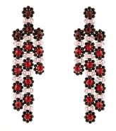 Simone Rocha Triple-flower drop earrings
