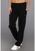 Puma ESS Open Fleece Sweat Pant (Black) - Apparel