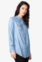 LOVE21 LOVE 21 Longline Chambray Shirt