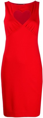 Love Moschino Heart-Neckline Dress