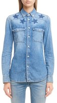 Givenchy Women's Star Denim Shirt