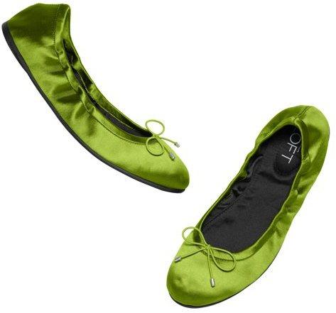 LOFT Flynn Satin Ballet Flats