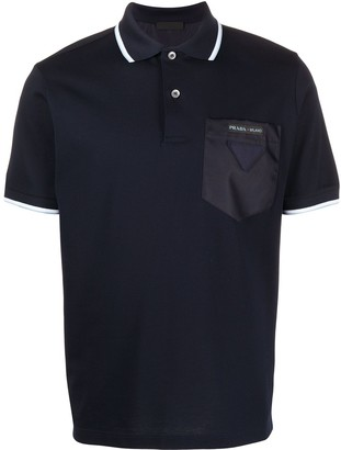 Prada Contrasting Pocket Polo Shirt