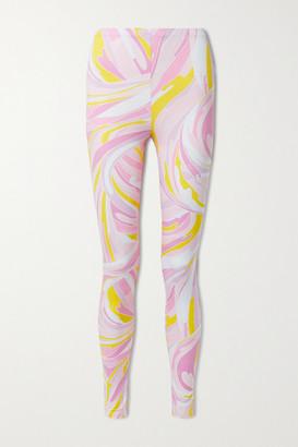 Emilio Pucci Printed Stretch-jersey Leggings - Pink