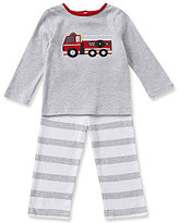 Starting Out Baby Boys 12-24 Months Firetruck-Appliqued Top and Striped Pull-On Pants Set
