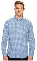 Nautica Men's Long Sleeve Check Plaid Button Down Shirt
