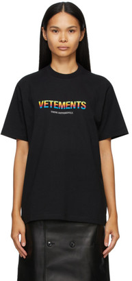 Vetements Black Think Differently Logo T-Shirt