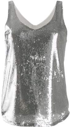 Blanca Vita scoop-neck sequin top