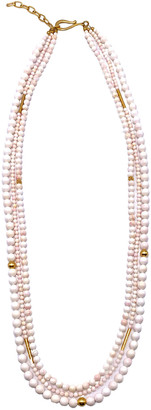Dina Mackney Three-Strand Pink Mother-of-Pearl Necklace, 36""