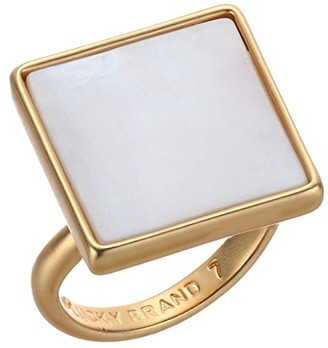 Lucky Brand Modern Mother-of-Pearl Ring (Gold) Ring