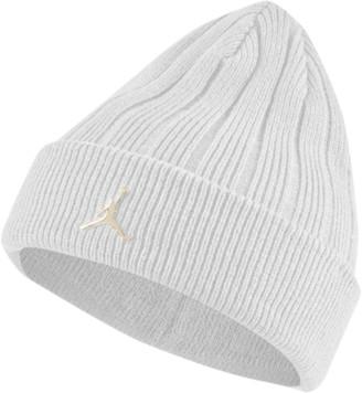 Jordan Ignot Cuffed Beanie Hat - White / Metallic Gold
