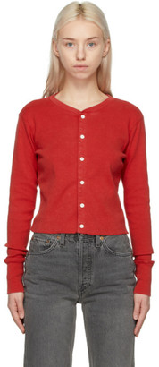 RE/DONE Red Hanes Edition Cropped 1950s Cardigan