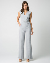 Le Château Crosshatch Viscose Blend Wide Leg Jumpsuit