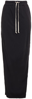 Rick Owens Split-side Cotton-jersey Maxi Skirt