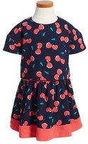 Little Marc Jacobs Cherry Print Popover Dress (Toddler Girls, Little Girls & Big Girls)