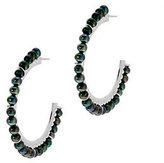 """Honora As Is Cultured Pearl 1-1/2"""" Sterling Hoop Earrings"""