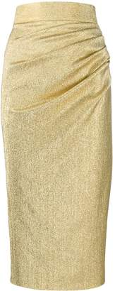 Dolce & Gabbana metallic silk skirt